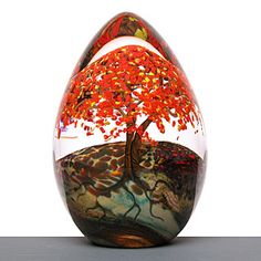 Glass Paperweight..tree