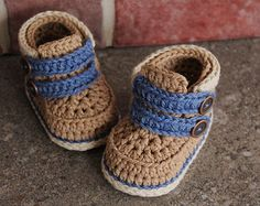 "Crochet Pattern Baby Boy Bootie Crochet Shoes ""Cairo Boots"" Instant Download PATTERN ONLY"