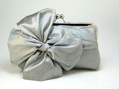 silver bow clutch.