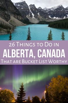 26 Incredible Things to Do in Alberta That are Bucket List Worthy - There are so many incredible places to visit in Alberta that most lists just include the rocky moun - Beautiful Places To Visit, Cool Places To Visit, Alberta Travel, Ontario Travel, Canadian Travel, Visit Canada, Summer Travel, Summer Bucket, Best Places To Travel