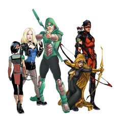 DC Families: Archers animaited by zahir milner Arrow Black Canary, Arte Nerd, Dc United, Team Arrow, Dc Comics Characters, Superhero Characters, Comics Universe, Universe Art, Detective Comics