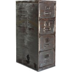 File cabinet with 4 drawers with dark steel finish. A personal, raw and cool storage solution. cm x cm x cm www. Tidy Up, Declutter, Storage Solutions, Filing Cabinet, Drawers, It Is Finished, Organization, Steel, Cool Stuff