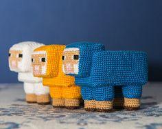 "Crochet Pattern of Sheep from ""Minecraft"" (Amigurumi tutorial PDF file)"