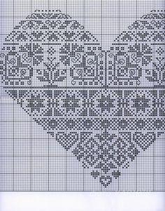 cuore punto croce