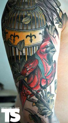 bjorn liebner bird cage tattoo
