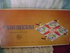 Parcheesi Game Selchow and Righter Vintage 1964   Complete Gold Seal Edition #SelchowRighter
