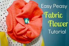 Easy Peasy Fabric Flower (TUTORIAL)    LittleKidsGrow
