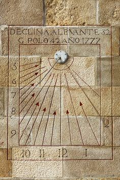 Sundial, Montjuic Castle, Barcelona I must go back, it is fantastic. Barcelona City, Barcelona Catalonia, Rapace Diurne, Nocturne, Unique Clocks, Time Clock, Sundial, Ancient History, Decorative Boxes