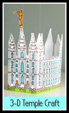 SUD Online Primary: Salt Lake Temple 3-D Engraving