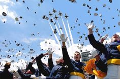 Congrats, throwing hats in the air