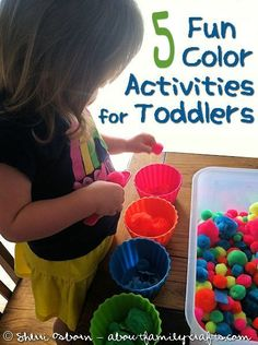 5 color activities for toddlers