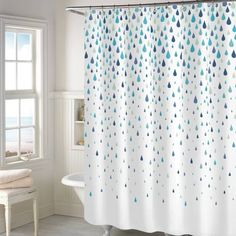 product image for Rainy Days Shower Curtain in Aqua