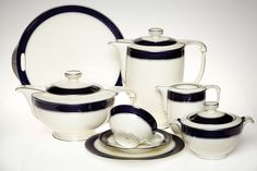 1930s Art Deco Porcelain Tea and Coffee Set | Modern Times