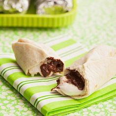 Next campfire, how about make your s'mores burrito style? Place chocolate and marshmallows in a tortilla, wrap them in aluminum foil, and roast over the fire. (Thanks for the delicious idea, Family Fun!) http://www.parents.com/fun/activities/outdoor/fun-by-firelight/?socsrc=pmmpin130425fSmoreBurrito=5