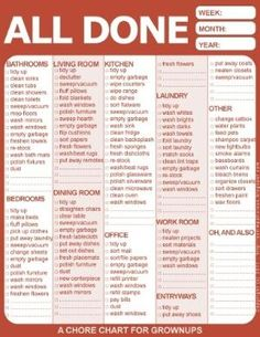 Chore chart for adults by riana.jacksongreyling