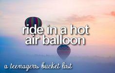 A teenagers bucket list
