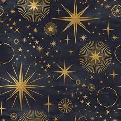 Stars and Circles Wallpaper - 25W x 125H