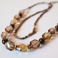 Clear brown necklace