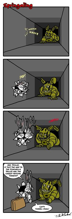 Wtf there's Bugs Bunny at Vent 😂. Springtrap's