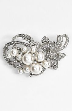 Free shipping and returns on Nina 'Jaela' Faux Pearl & Crystal Brooch at Nordstrom.com. Milky faux pearls and sweeping curves lend vintage charm to a dazzling crystal-encrusted brooch.