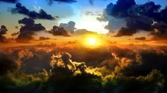 CLOUDS AERIAL SUNSET | Free clouds on sunset wallpaper background