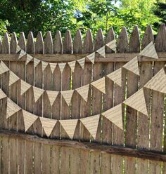This bunting made from vintage sheet music.