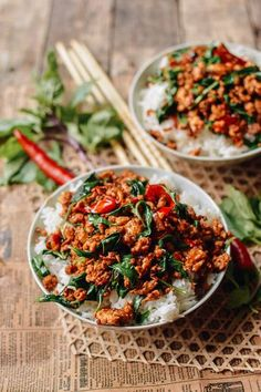 Thai Basil Chicken, by thewoksoflife.com @thewoksoflife