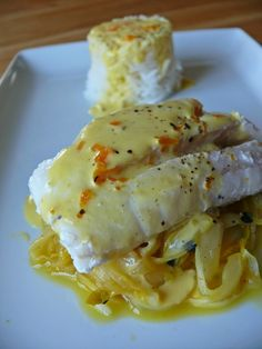 Clementine sauce and confit endive passion - the world of Milan - Syl Vie - - Eglefin sauce clémentine et endives confites passion – le monde de Milan Braised endive fish Fish Recipes, Seafood Recipes, Healthy Recipes, Tasty, Yummy Food, French Food, Fish And Seafood, Food Videos, Entrees