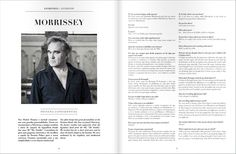 Morrissey interview (Portuguese and English) for Wink Pestana Lifestyle Magazine, issue 8, 2014. Part 1/2 ― via Morissey-solo.