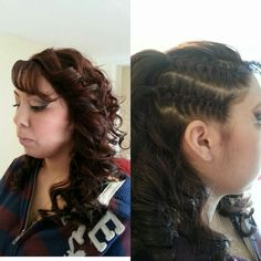 Did my cousins hair n makeup for prom (;