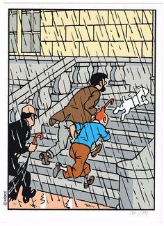 Hergé – Tintin at Marlinspike Comics Illustration, Illustrations, Ex Libris, Haddock Tintin, Edward Hopper, Tin Tin Cartoon, Album Tintin, Captain Haddock, Herge Tintin