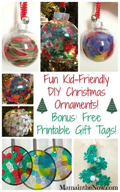 Easy Kid Friendly DIY Christmas Ornaments