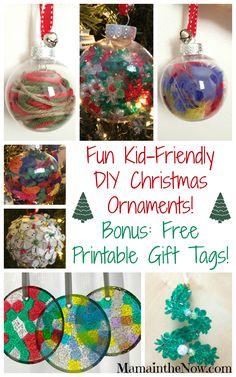 Easy Kid Friendly DIY Christmas Ornaments