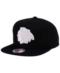 d51b337c6ab Mitchell   Ness Chicago Blackhawks Respect Snapback Cap - Black Adjustable  Chicago Blackhawks