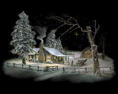 Joulukuvat   Animaatiokuvia   joulumaisema