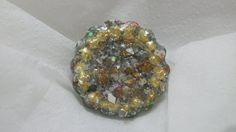 sparkly gold and silver mosaic egg shell by Braceletsbymaryle, $8.00