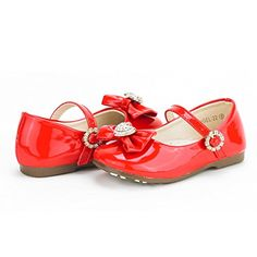 Dream Pairs ANGEL-22 Mary Jane Front Bow Heart Rhinestone Buckle Ballerina Flat (Toddler/ Little Girl) New, Red-Patent 8 M US Toddler ... - http://all-shoes-online.com/dream-pairs/8-m-us-toddler-dream-pairs-angels-mary-jane-bow-flat-27