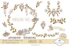 Check out Fabulous Fall Clipart&Vector by Amistyle Digital Art on Creative Market