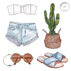 Good objects - Christmas in summer looks like this. ☀️ #goodobjects #illustration