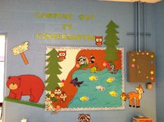 Camping out in Kindergarten Classroom Welcome, Kindergarten, Flag, Walls, Kids Rugs, Camping, Decor, Campsite, Decoration