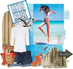 """Beach!!"" by adelianna on Polyvore"