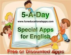 English Apps for Kids free or discounted