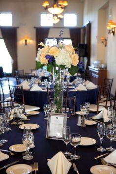Navy Themed Dinner Table