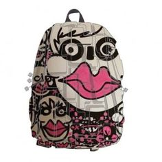 Madpax Blok Artipax Face To Face George Moquay Half Pack Book Bag Backpack Urban Movies, Punk Tattoo, Eco Kids, Swim Meet, Backpack Bags, Tween, Backpacks, Face, Squares