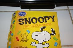 Snoopy fruit snacks by the Kroger Co. So yummers, and Snoopirific!