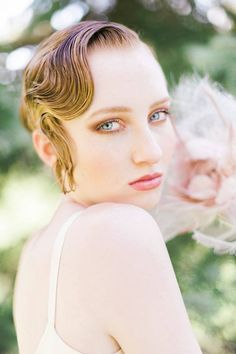 Make-up by Maya Goldenberg Hair by Duyen Huyhn Styling Vintage hair accessory by Lowon Pope Liberty Village Bridal style Model: Mackenzie at Spot6Management Photo by Whitney Heard Photography for www.mayagoldenberg.com #bridal hair #outdoors #summer #wedding #bridal #natural #fairy #ethereal #beauty #1920's hair #vintage #bride