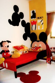 Mickey Mouse Themed Kids Room Designs And Furniture | Kidsomania Disney  Kids Rooms, Disney Bedrooms