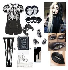 """Untitled #32"" by billietheweirdo ❤ liked on Polyvore featuring Killstar, Pierre Balmain, Current Mood, Mysticum Luna, Puma and Dsquared2"