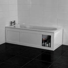 Croydex Unfold 'N' Fit White Bath Panel & Lockable Storage - Front in Home, Furniture & DIY, Bath, Baths White Bath Panel, Bath Side Panel, Bath Panel Storage, Bathtub Storage, Safe Storage, Storage Spaces, Bathroom Shop, Bathroom Design Small, Bath Design