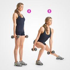 Dumbbell Side lunges